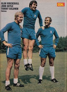 July Chelsea defender John Boyle flanked by attackers Alan Birchenall and Tommy Baldwin. Laws Of The Game, Coventry City, Fc Chelsea, Association Football, Most Popular Sports, Fifa, The Past, Goal, Legends