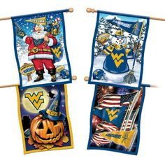 West Virginia Mountaineers Flag Collection  I keep saying Im going to order these but I havent yet. Maybe Frank will get them for me this season =)