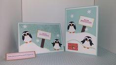 Weihnachtskarten Pinguin 3