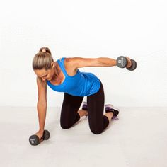Kneeling Rear Fly - Back Workout: 8 Exercises for Back Pain Relief and Good Posture - Shape Magazine