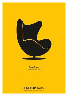 Arne Jacobsen, Egg Chair, 1958 www.faktorhaus.de