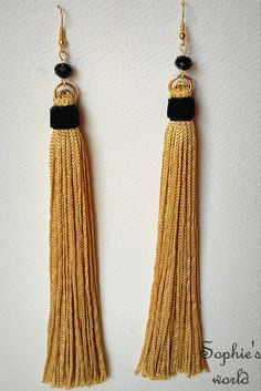 Sophie's World, Tassels, Drop Earrings, Facebook, Womens Fashion, Handmade, Jewelry, Handmade Necklaces, Embroidery