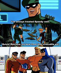 An Green Arrow wonders why he has such bad luck with sidekicks