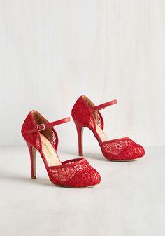 Heels - Tea House Haute Heel in Crimson