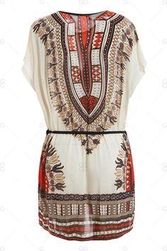 ethnic print tunic