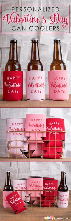 Sweeten any event with personalized #Valentine's Day can coolers! Select from our durable 4mm Premium, Elite 3mm Neoprene and PVC Foam styles in up to 45 colors. Win everybody's heart with these unique custom can coolers for cans, bottles and cups!