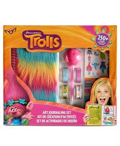 Spark her imagination and help her add the cheer of Trolls to her paper crafts and diary with this Trolls Art Journalling set from Fashion Angels, featuring more than 250 stickers. | Greyboard/plastic
