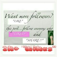 Largest follow/adding game on Poshmark! 1. FOLLOW me! 2. LIKE this post! 3. FOLLOW everyone who liked2attract future  followers! 4. SHARE often, the more you do, followers WILL increase rapidly! :) 5.I have gained 10k followers in 1 1/2 months already. 6. Thanks for stopping by and don't forget to check out my unique pieces! Happy poshing, beautiful!  :) #ClosetCrush Shoes