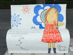 Delighted to find you, sad to say goodbye; hunting #BookBenches on London's Southbank. http://pigeonpairandme.com/?p=2031