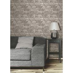 Fine Decor Rustic Brick Wallpaper Cream / Taupe - Fine Decor from I love wallpaper UK