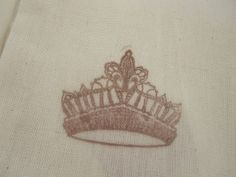 Hand Stamped Muslin Gift Bags  Tiara by frenchcountry1908 on Etsy, $1.50