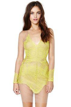 For Love and Lemons Antigua Mini Dress