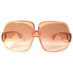 1e3dfe8607 New Vintage Yves Saint Laurent YSL 545 Translucent Orange 1970 France  Sunglasses