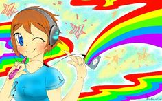 Colorfull rainbow in the music