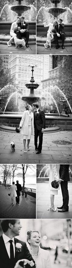 New York City Hall Park wedding, vintage inspired wedding style, photos by Justin & Mary Marantz