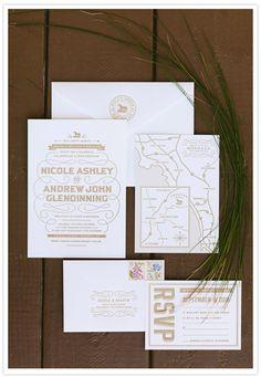 Chic wedding invite