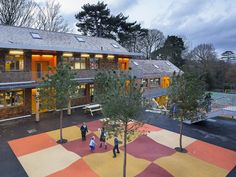 Surface modulée de l'école Hilden Grange