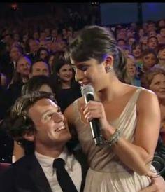 Jonathan Groff and Lea Michele, 2010 Tony Awards