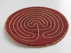 A finger-maze: add to the Godly Play prayer materials!