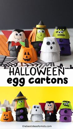 EGG CARTON HALLOWEEN CRAFTS