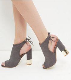 Topshop MAISON BLOCK - Sandales à talons hauts gris s22JIaYOAo