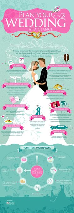 Plan Your Wedding At A Glance   #Infographic #Wedding #PlanWedding