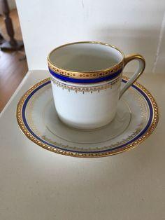 Limoges Malevergne Demitasse Cup & Saucer Porcelaine d'Art Cobalt Gold • £12.86 - PicClick UK
