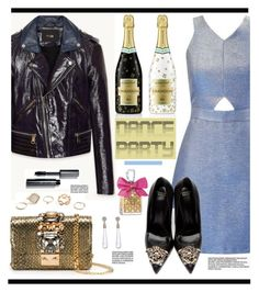 Dance Party! by hamaly on Polyvore featuring polyvore fashion style Miss Selfridge Versace GEDEBE GUESS Bobbi Brown Cosmetics Juicy Couture Rebecca Minkoff clothing danceparty
