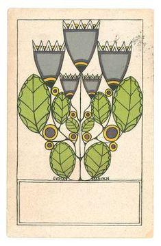 Wiener Werkstatte Postcard Gustav Marisch, Vienna, 1912.