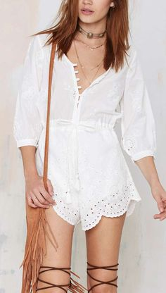 Cute embroidered romper