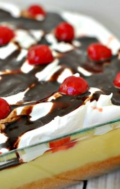 Banana Split Poke Cake Recipe ~ A Delicious, easy summer cake
