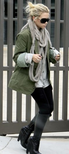 Ashley Olsen | Street Style. I've always loved the Olsen's style