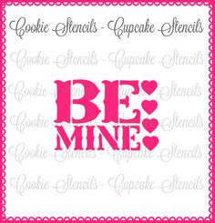 Stencil for cookie decorating Be mine   cookie by Sugarartstencils