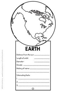Planet Fact Fans School Science Projects, Science For Kids, Earth Science, Science And Nature, Solar System Worksheets, Solar System Activities, Solar System Crafts, Planets Activities, Science Activities