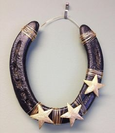 Decorated Embellished Horseshoe via Etsy
