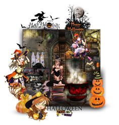 Halloween by tempestaartica on Polyvore featuring interior, interiors, interior design, Casa, home decor, interior decorating, WALL, Sur La Table and Halloweenparty