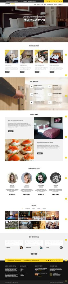 Luxury Hotel WordPress Theme Useful for Hotel and Resorts Businesses