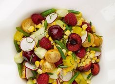 The Culinary Institute of America Food Enthusiasts :: Corn Salad with Summer Fruits and Vegetables