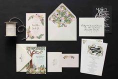 Aún si no hay una boda en tu horizonte, estas invitaciones ilustradas son una compra tentadora.