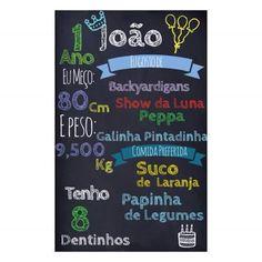 Convite Quadrado Chalkboard 2