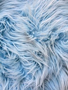 Eden LIGHT BLUE 2 Inch Long Pile Soft Faux Fur Fabric by the Yard - 10005 Blue Aesthetic Pastel, Rainbow Aesthetic, Aesthetic Colors, Swatch, Blue Walls, Monster, Color Shades, Cut And Color, Textures Patterns