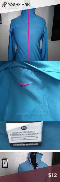 Nike workout jacket Nike workout jacket, great condition. Bought off Posh, but did not fit right on me so re-poshing. Nike Jackets & Coats
