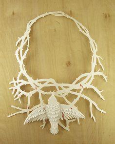 Frida Kahlo's Necklace in Paper by Artist Elsita