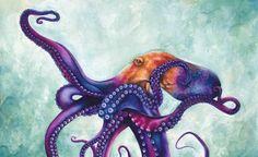 rainbow octopus!! by ~AshleyBrownTown on deviantART
