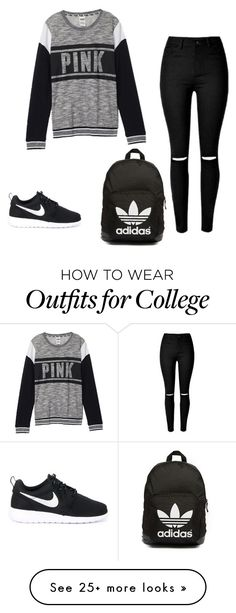 """Untitled #15"" by stfushelby on Polyvore featuring Victoria's Secret, NIKE and adidas Originals"