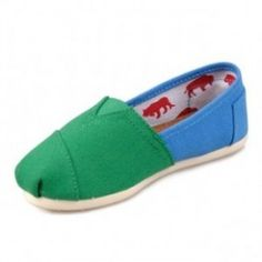 Toms Green Blue Youth Canvas Classic   http://www.toms2us.com