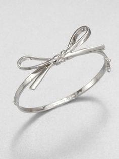 Kate Spade New York - Bow Bangle Bracelet/Rose Gold - Saks.com