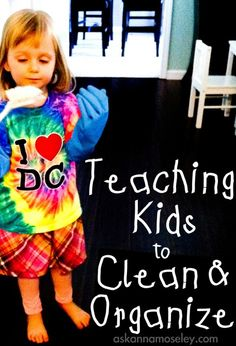 Getting my children to clean is like pulling teeth! What works for you? Here are some great tips for teaching kids to clean and organize - Ask Anna Chores For Kids, Activities For Kids, Teaching Kids, Kids Learning, Learning Tools, Be Organized, Anna, Raising Kids, Parenting Advice