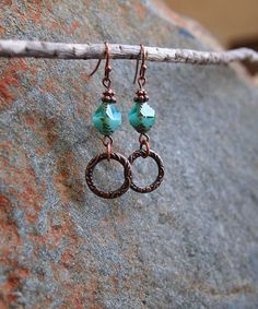 Take a look at this Blue & Copper Lagoon Drop Earrings today!