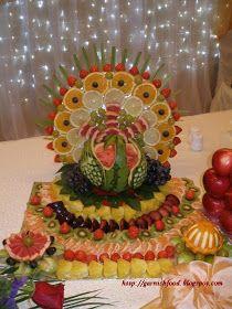 Fruit carving design and food garnishing